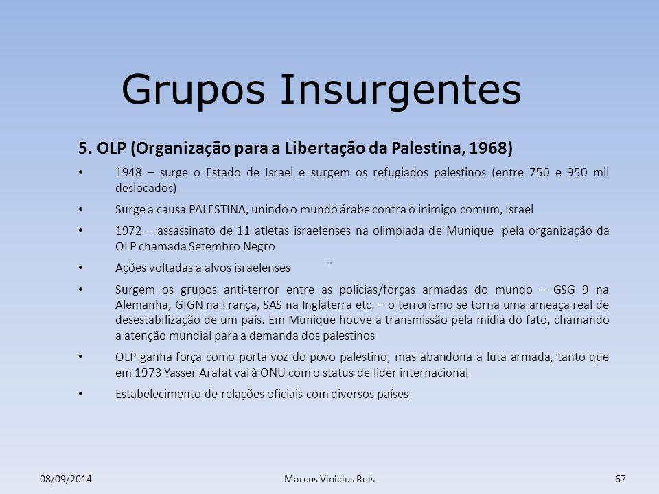 ;er 08/09/2014Marcus Vinicius Reis67 Grupos Insurgentes 5.