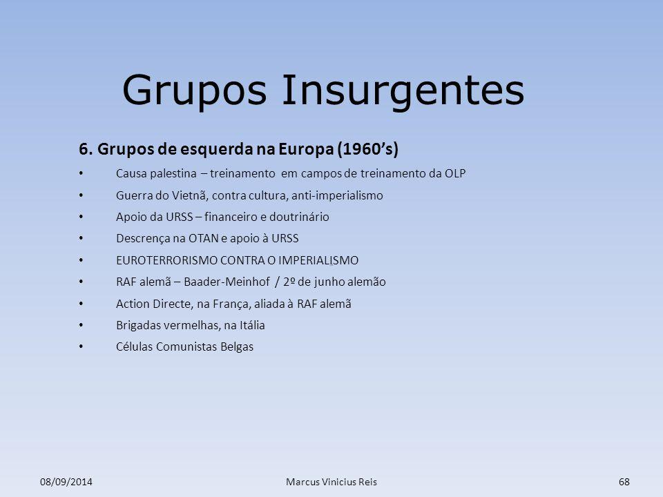 ;a 08/09/2014Marcus Vinicius Reis68 Grupos Insurgentes 6.