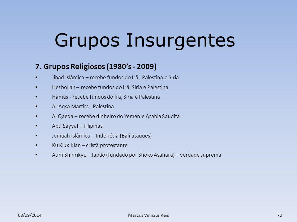 ;a 08/09/2014Marcus Vinicius Reis70 Grupos Insurgentes 7.