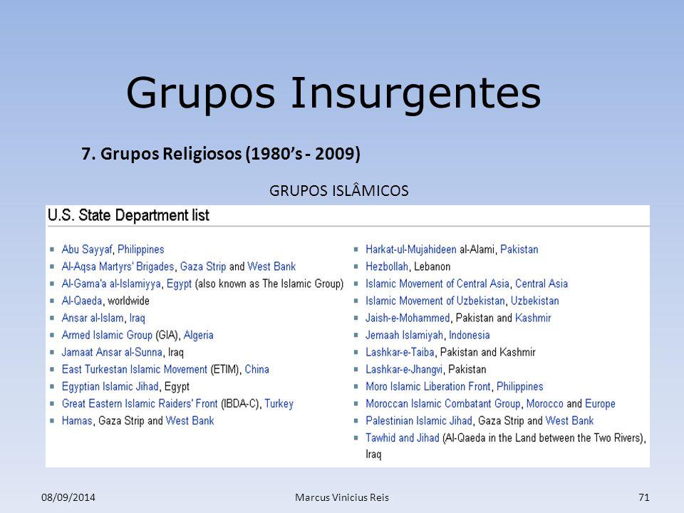 ;a 08/09/2014Marcus Vinicius Reis71 Grupos Insurgentes 7.