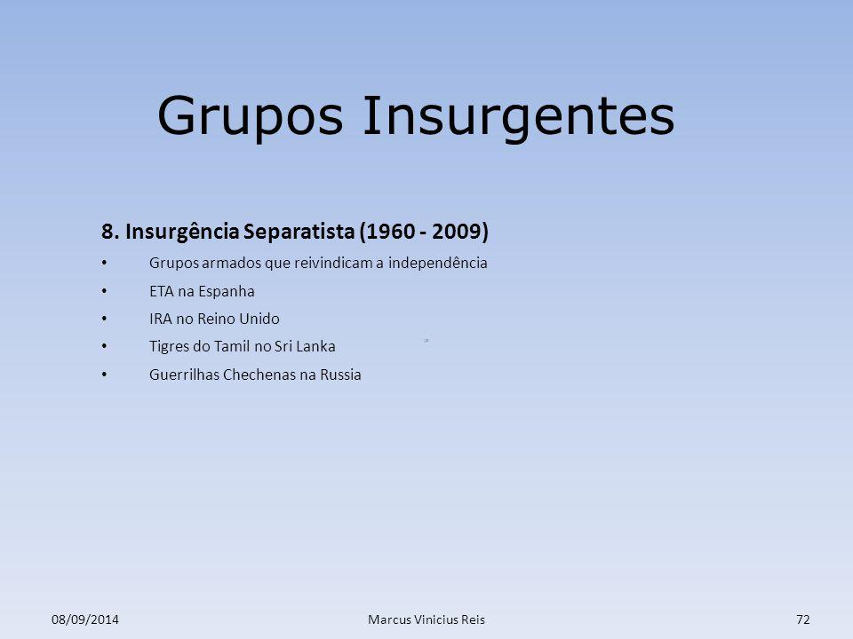 ;a 08/09/2014Marcus Vinicius Reis72 Grupos Insurgentes 8.