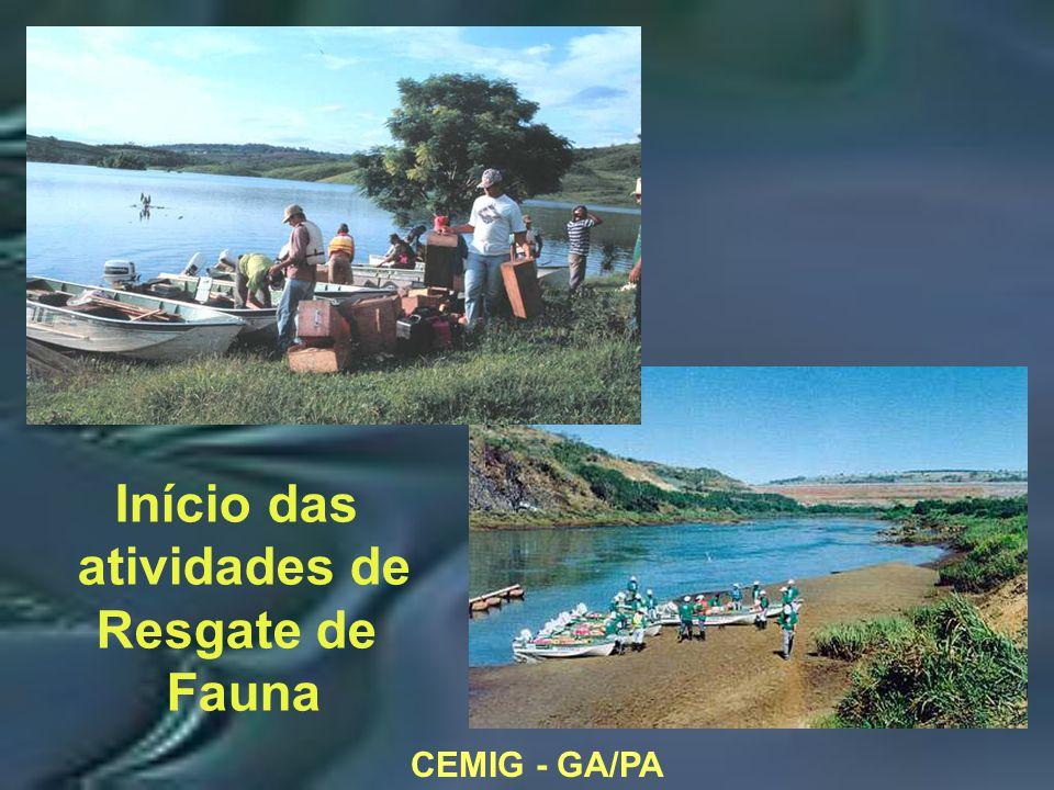 CEMIG - GA/PA Início das atividades de Resgate de Fauna