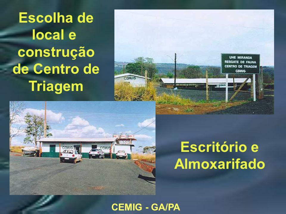 CEMIG - GA/PA Escolha de local e construção de Centro de Triagem Escritório e Almoxarifado