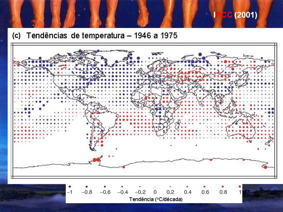 Tendências de temperatura, 1979 a 2005 IPCC (2007)
