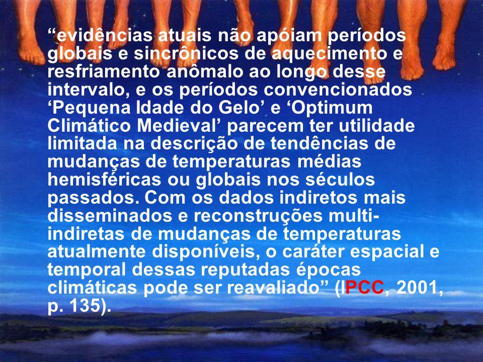 """Curva de Mann (""""taco de hóquei"""") IPCC (2001)"""