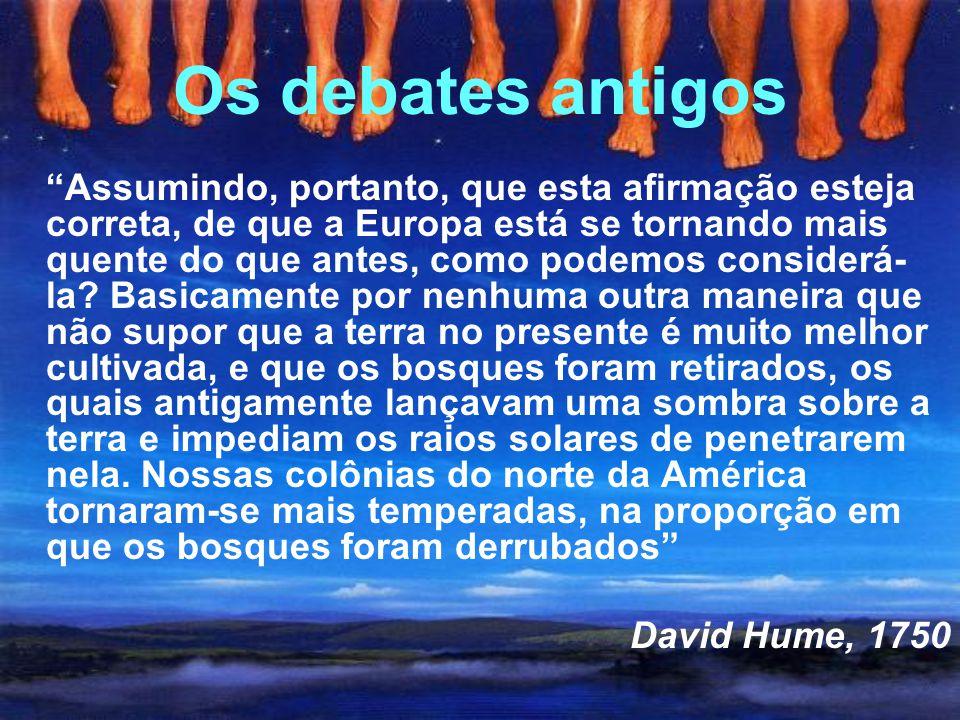 A histeria contemporânea Discurso de James Hansen em 23 de junho de 1988 (curva alhos com bugalhos ) Fleming (1998)