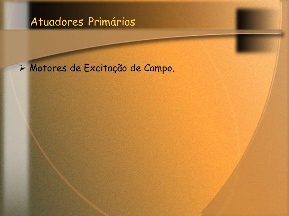 Atuadores Primários  Motores de Excitação de Campo.