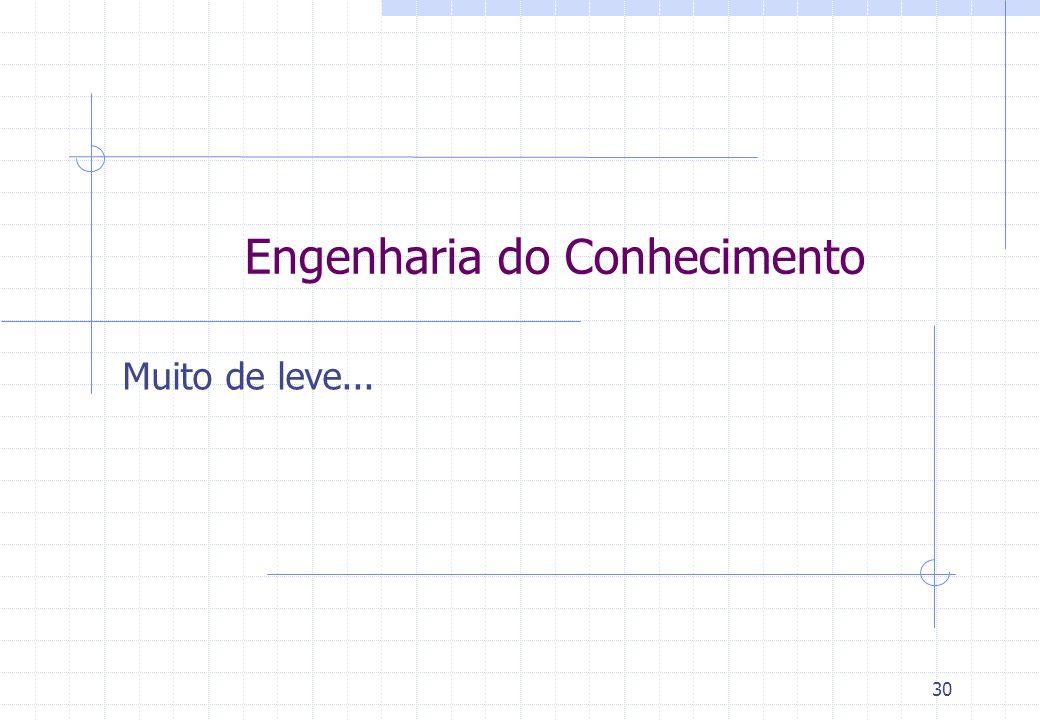 30 Muito de leve... Engenharia do Conhecimento