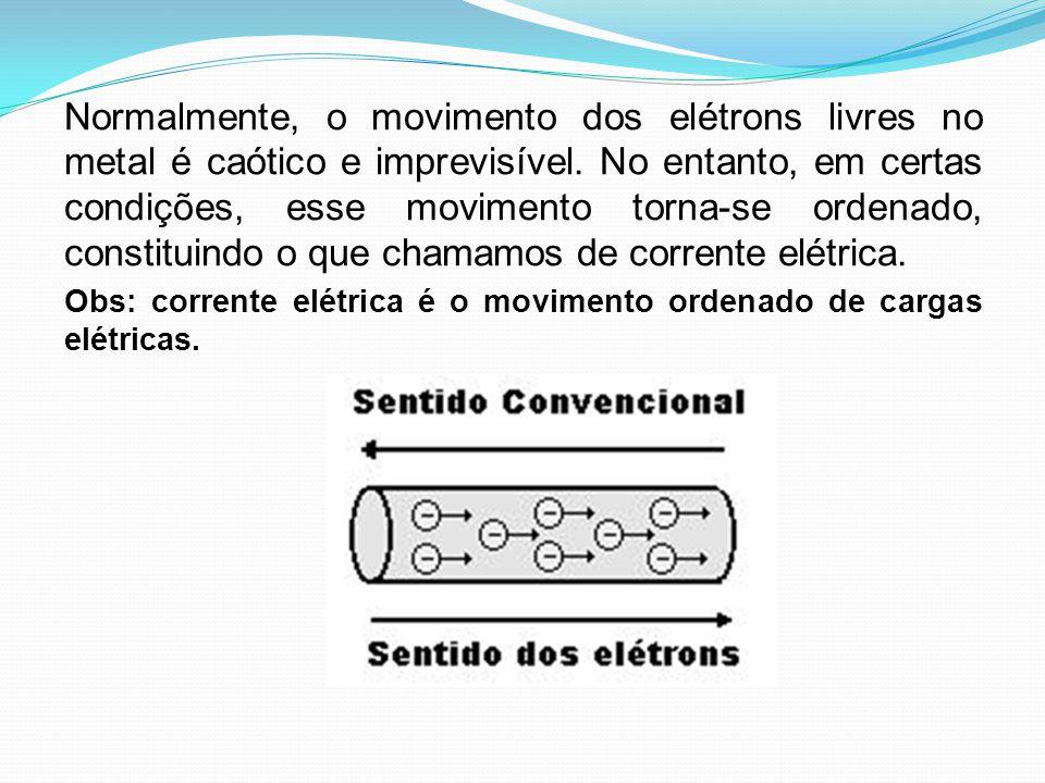 Normalmente, o movimento dos elétrons livres no metal é caótico e imprevisível. No entanto, em certas condições, esse movimento torna-se ordenado, con