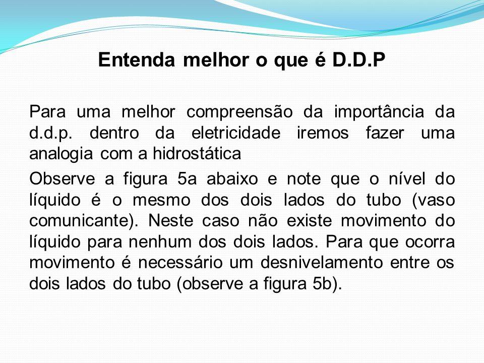Entenda melhor o que é D.D.P Para uma melhor compreensão da importância da d.d.p. dentro da eletricidade iremos fazer uma analogia com a hidrostática
