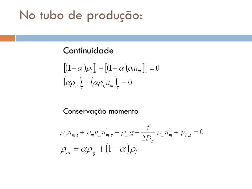 No tubo de produção: Continuidade Conservação momento