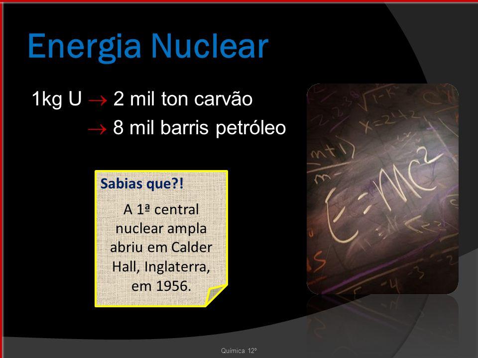 Energia Nuclear Química 12º Sabias que?.