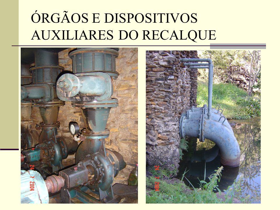 ÓRGÃOS E DISPOSITIVOS AUXILIARES DO RECALQUE