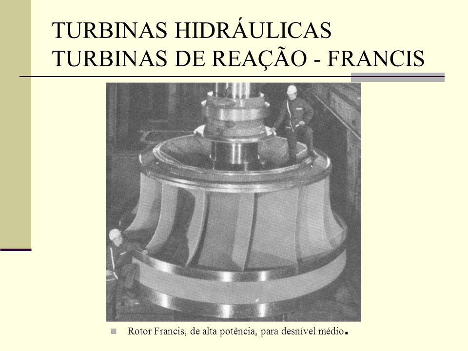 Rotor Francis, de alta potência, para desnível médio.