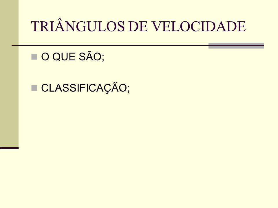 TRIÂNGULOS DE VELOCIDADE O QUE SÃO; CLASSIFICAÇÃO;