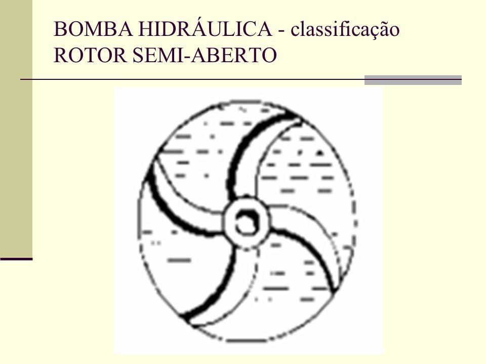 BOMBA HIDRÁULICA - classificação ROTOR SEMI-ABERTO