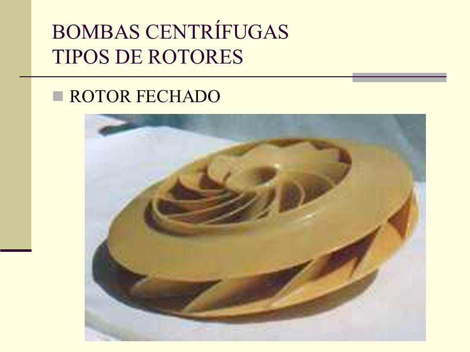 BOMBAS CENTRÍFUGAS TIPOS DE ROTORES ROTOR FECHADO