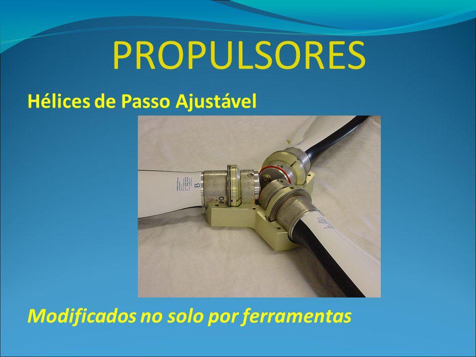 PROPULSORES Hélices de Passo Ajustável Modificados no solo por ferramentas