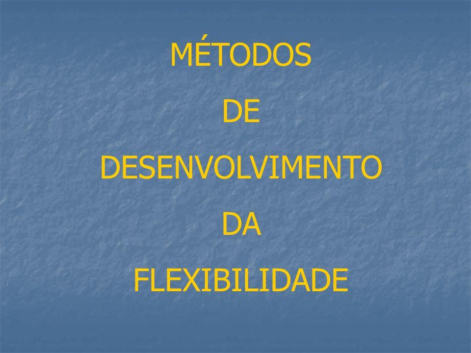 2 – Flexibilidade Dinâmica É a capacidade que nos permite executar movimentos de grande amplitude com uma ou várias partes do corpo.