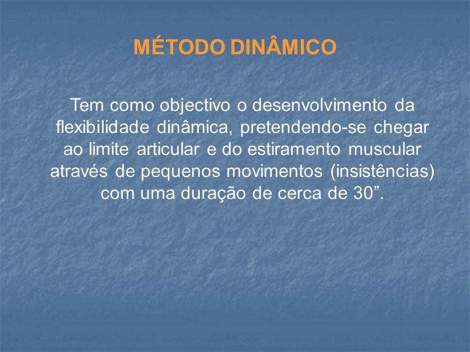 MÉTODOS DE DESENVOLVIMENTO DA FLEXIBILIDADE