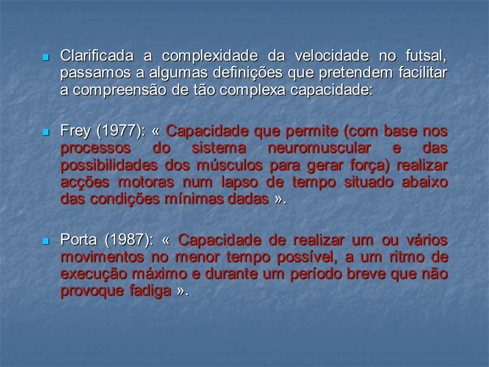 FORÇA EXPLOSIVA VELOCIDADE ACÇÕES RELEVANTES NO FUTSAL FLEXIBILIDADE RESISTÊNCIA ANAERÓBICA ALÁCTICA ACÇÕES DE ELEVADA INTENSIDADE E CURTA DURAÇÃO Acções relevantes no futsal (Riveiro, J.)
