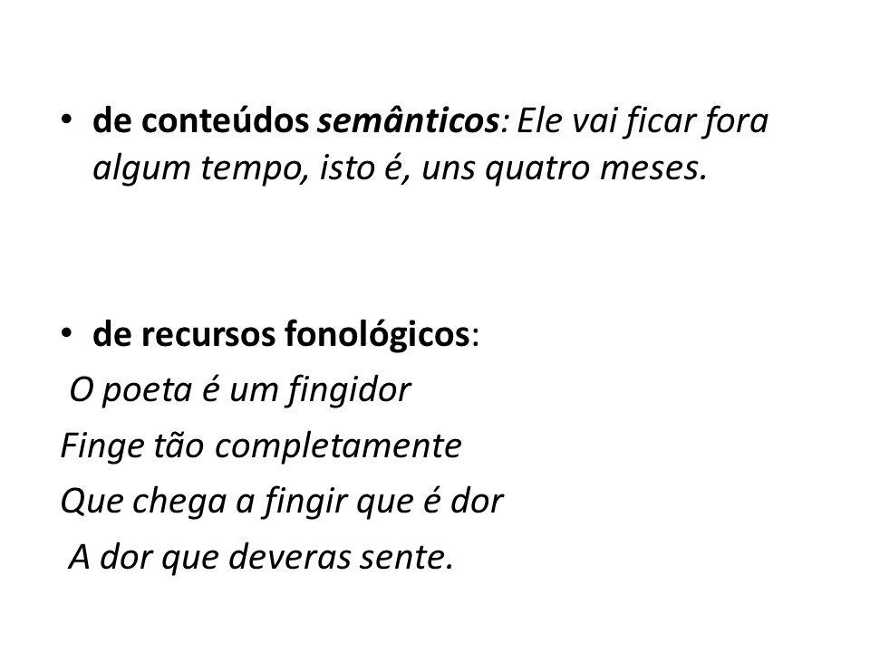 II.Progressão a.manutenção temática: por uso de termos do mesmo campo lexical.