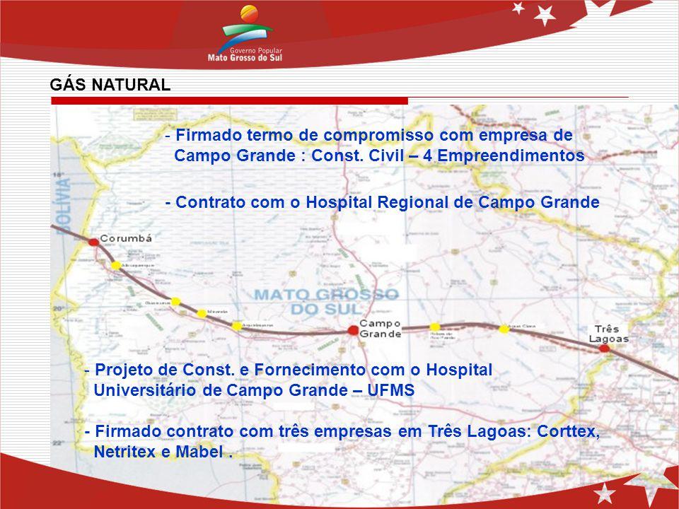 - Firmado termo de compromisso com empresa de Campo Grande : Const. Civil – 4 Empreendimentos - Contrato com o Hospital Regional de Campo Grande - Pro