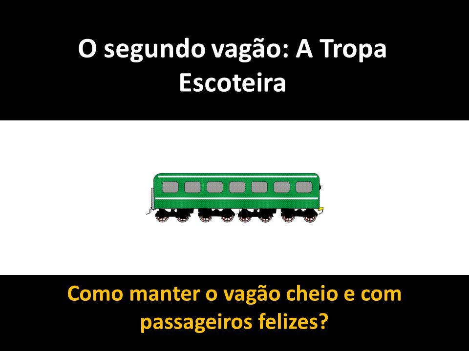 O segundo vagão: A Tropa Escoteira Como manter o vagão cheio e com passageiros felizes?