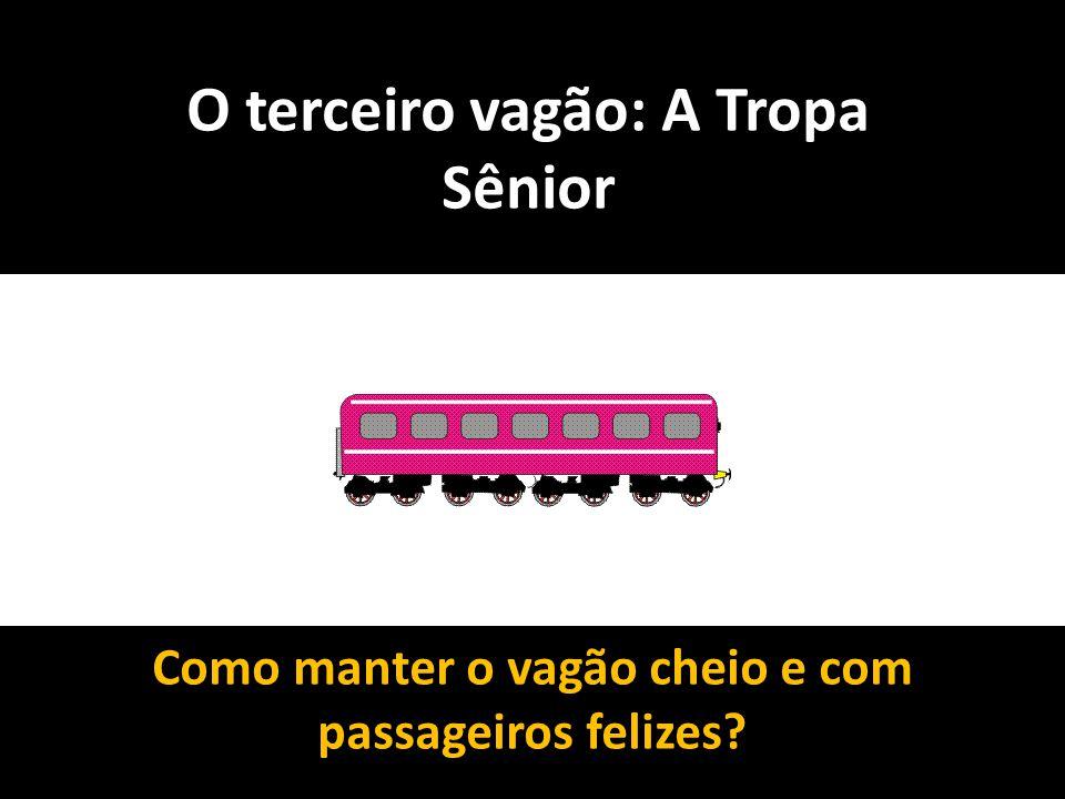 O terceiro vagão: A Tropa Sênior Como manter o vagão cheio e com passageiros felizes?