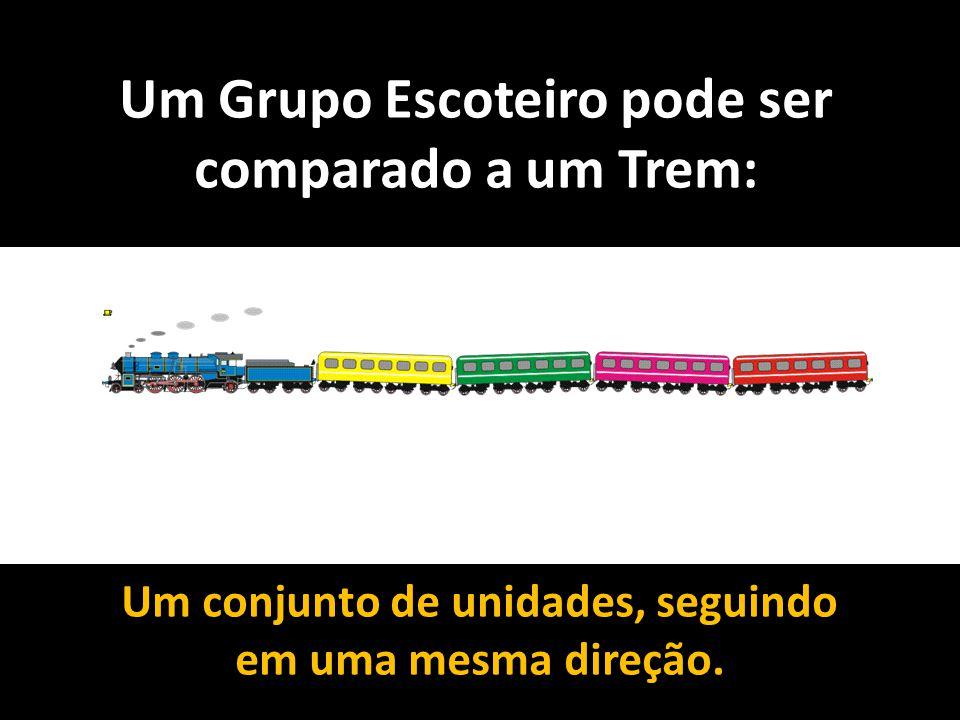 Um Grupo Escoteiro pode ser comparado a um Trem: Um conjunto de unidades, seguindo em uma mesma direção.