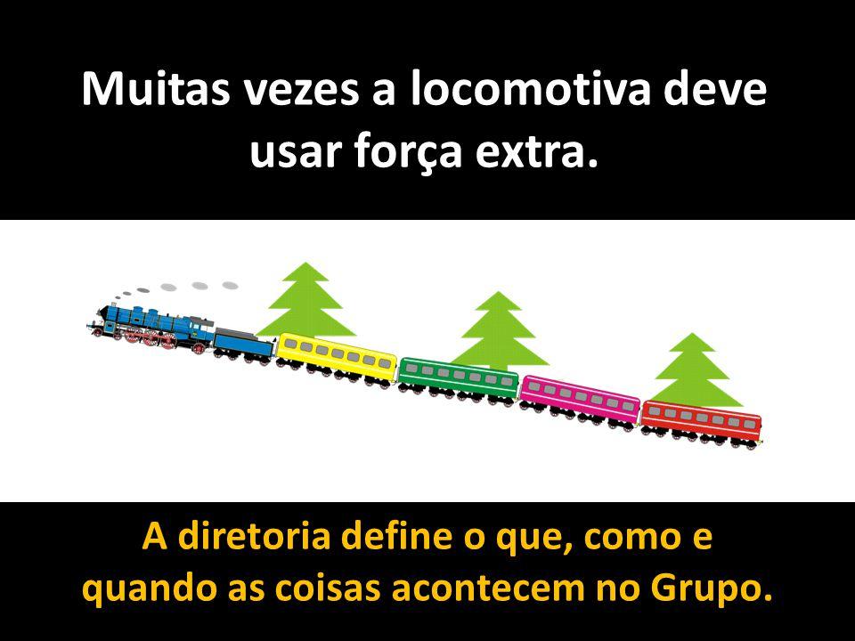 Muitas vezes a locomotiva deve usar força extra. A diretoria define o que, como e quando as coisas acontecem no Grupo.