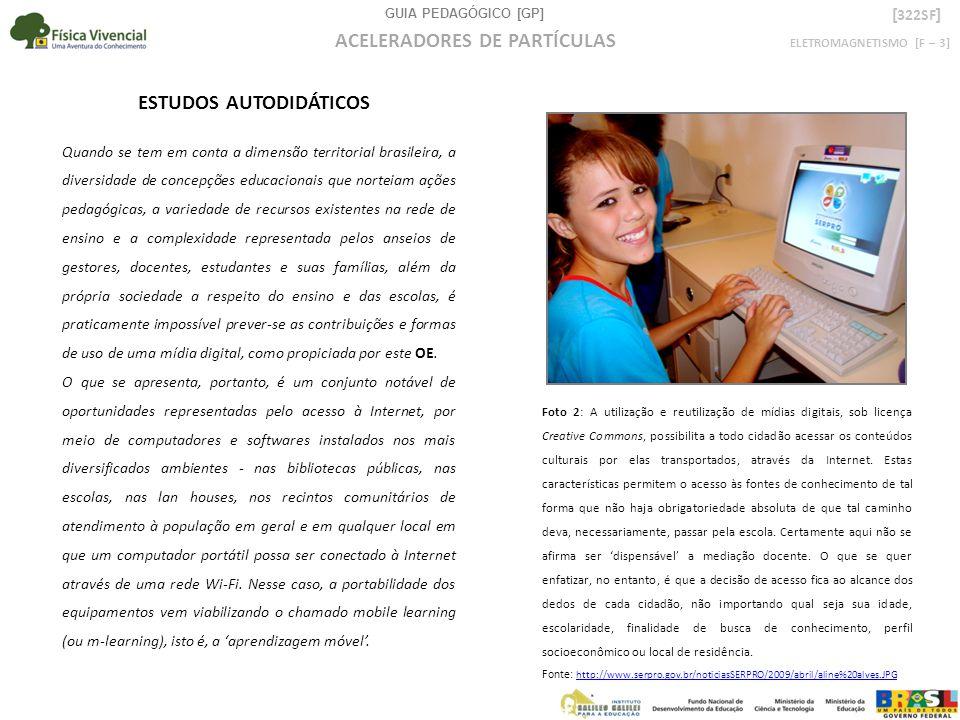 GUIA PEDAGÓGICO [GP] ELETROMAGNETISMO [F – 3] ACELERADORES DE PARTÍCULAS [ 322SF ] Quando se tem em conta a dimensão territorial brasileira, a diversi