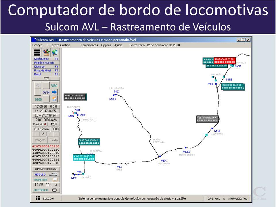 Computador de bordo de locomotivas Sulcom AVL – Rastreamento de Veículos