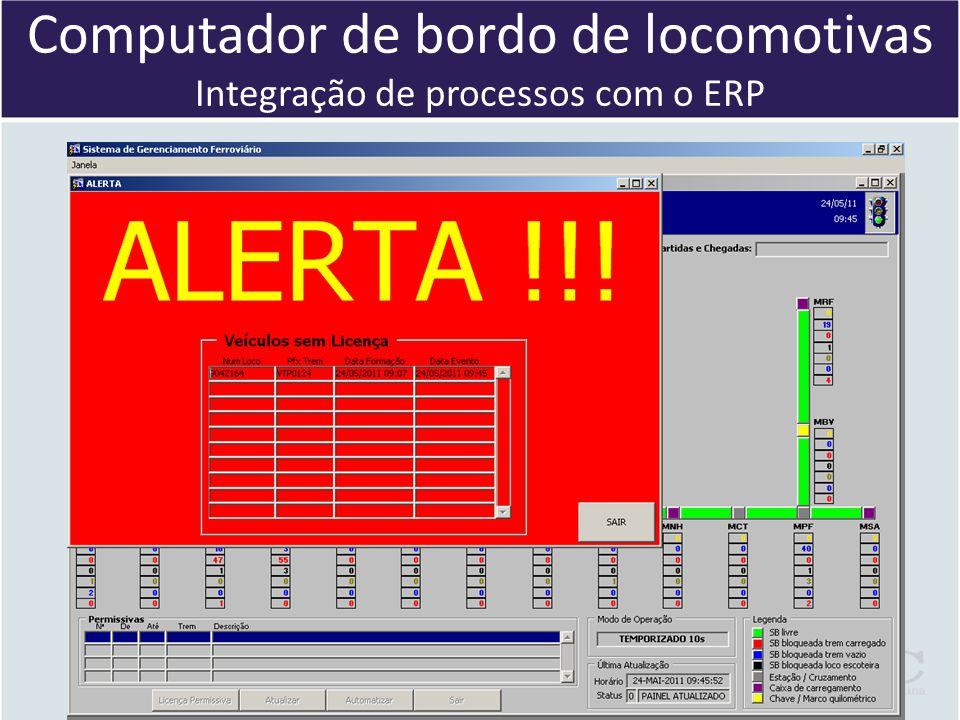 Computador de bordo de locomotivas Integração de processos com o ERP
