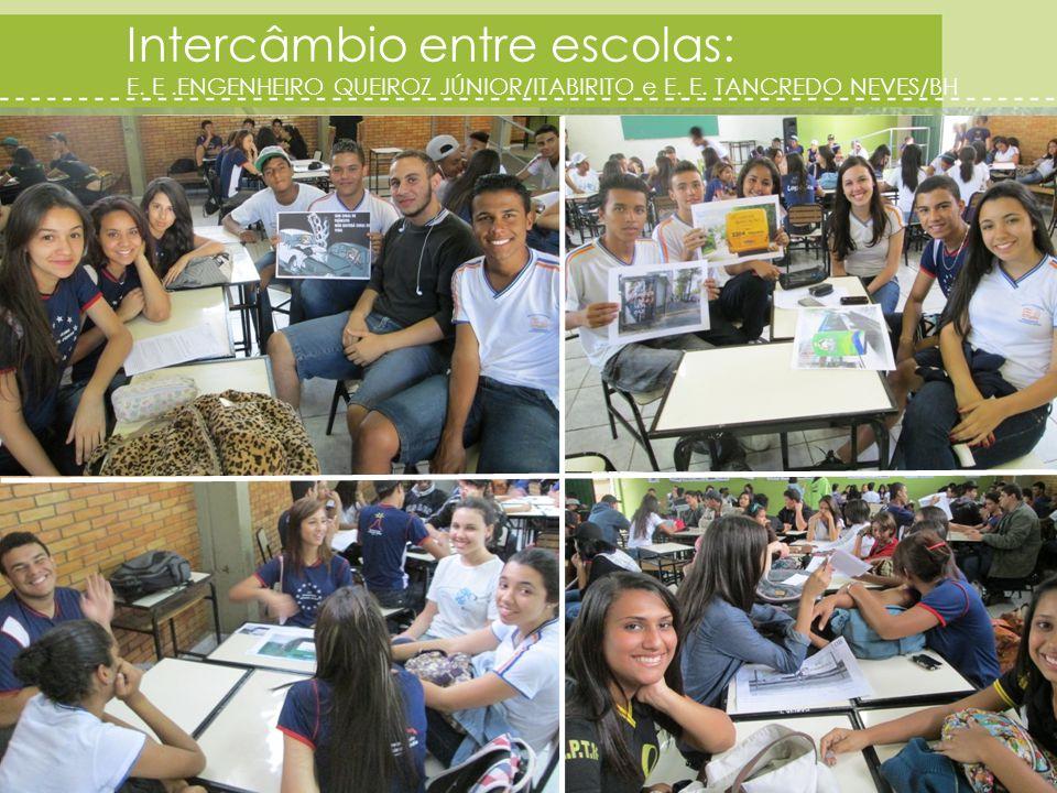 Intercâmbio entre escolas: E. E.ENGENHEIRO QUEIROZ JÚNIOR/ITABIRITO e E. E. TANCREDO NEVES/BH 21