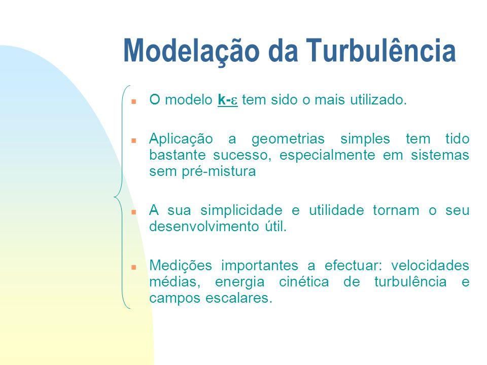 Modelação da Turbulência n Métodos como o DNS (direct numerical simulation) e o LES (large-eddy simulation) serão uma fonte importante para a compreensão da física da turbulência e para fechar métodos de cálculo baseados na estatística.