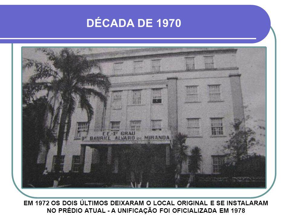 HOJE - ESCOLA GABRIEL MIRANDA A ESCOLA GABRIEL MIRANDA SURGIU EM 1964, ANEXADO AO MARGARIDA PARDELHAS, JUNTAMENTE COM O GRUPO ESCOLAR CIDADE DE CRUZ ALTA O TERCEIRO ANDAR FOI DESTRUÍDO POR VENDAVAL