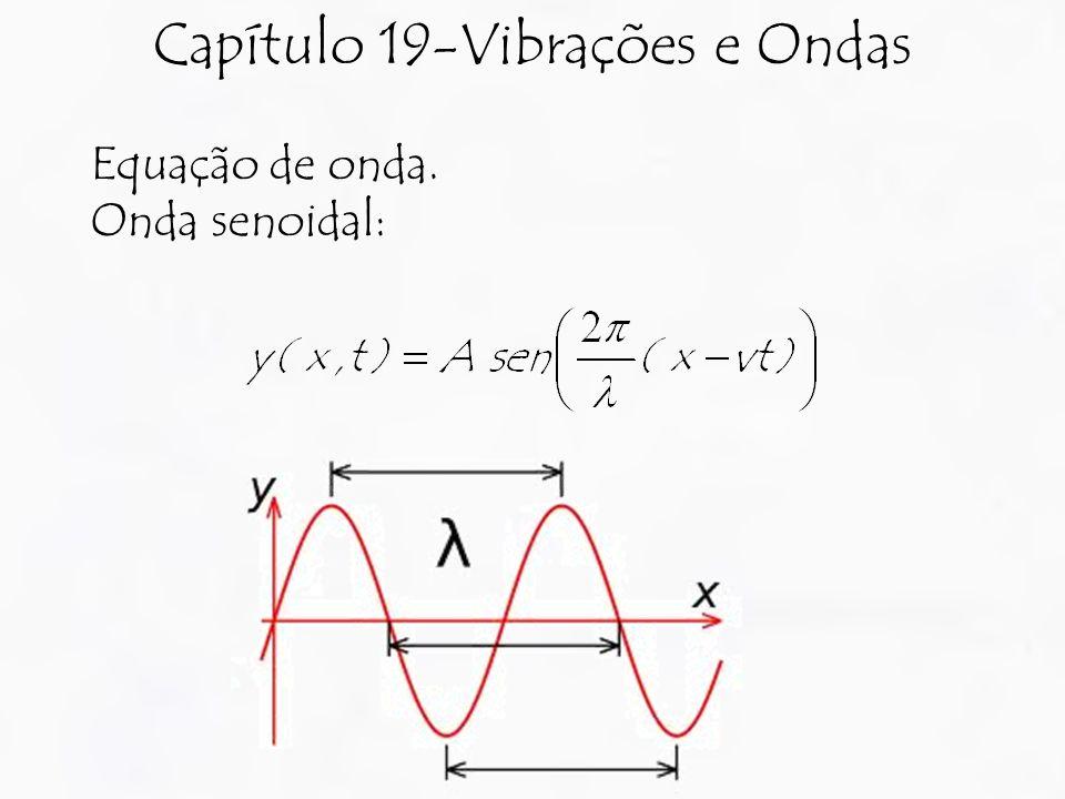 Capítulo 19-Vibrações e Ondas Equação de onda. Onda senoidal: