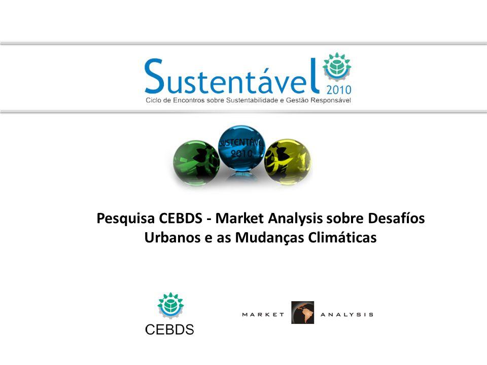 Pesquisa CEBDS - Market Analysis sobre Desafíos Urbanos e as Mudanças Climáticas