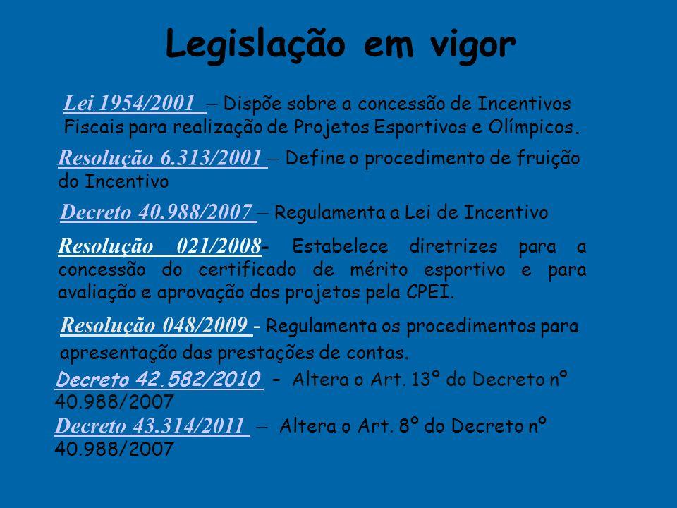 Secretaria de Estado de Esporte e Lazer Comissão de Projetos Esportivos Incentivados Tel.