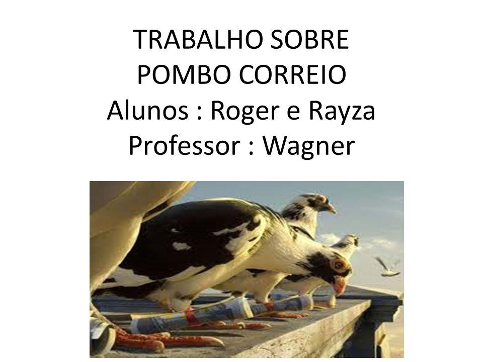 TRABALHO SOBRE POMBO CORREIO Alunos : Roger e Rayza Professor : Wagner