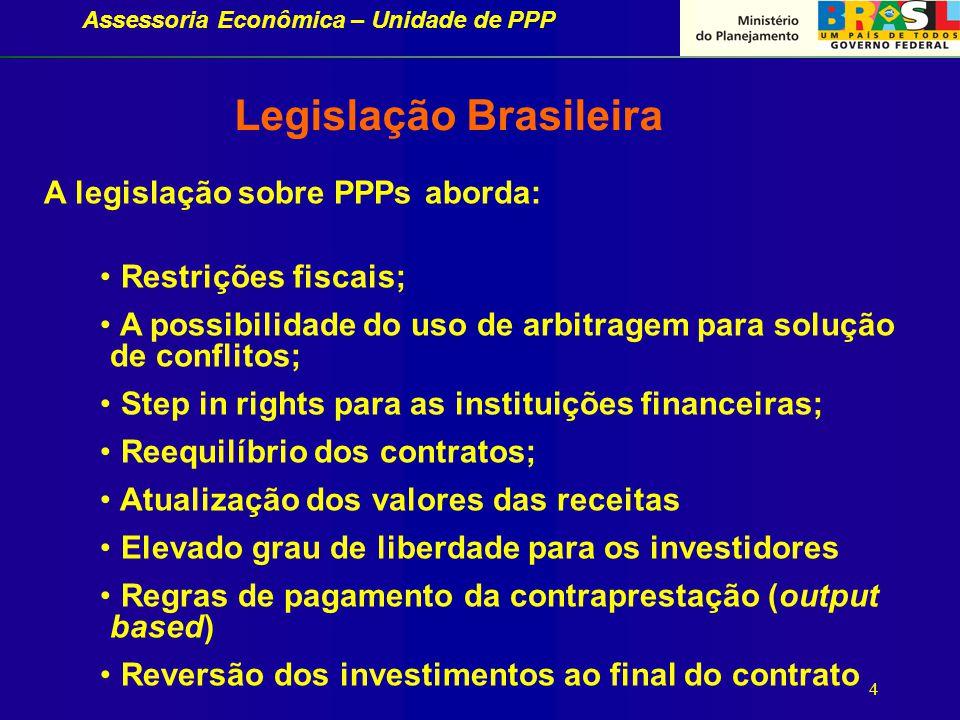 Assessoria Econômica – Unidade de PPP Resultados