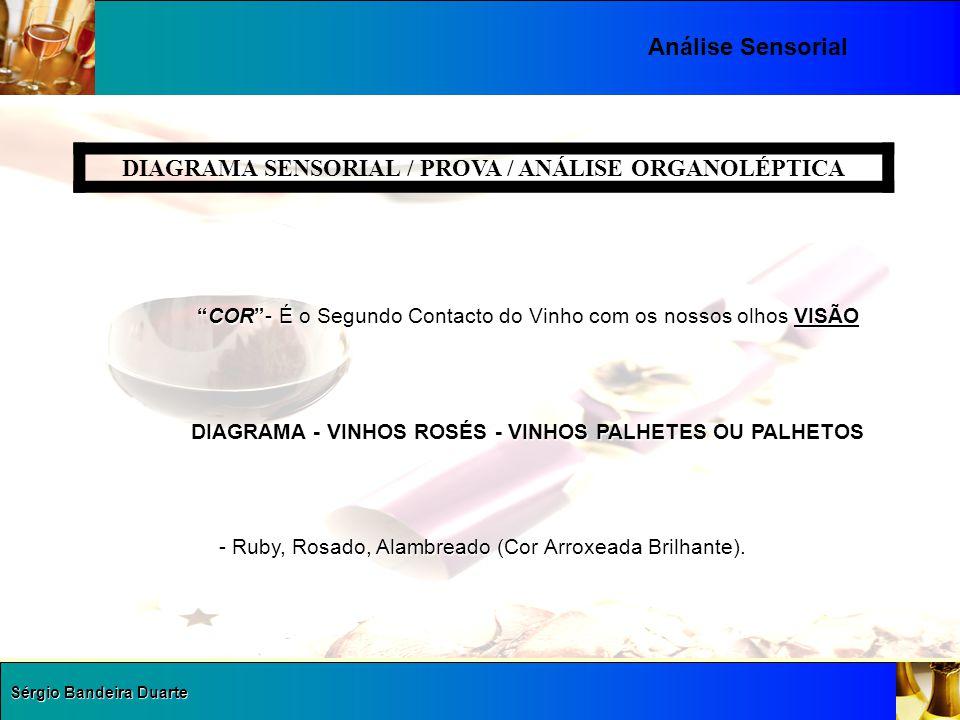"""Sérgio Bandeira Duarte Análise Sensorial DIAGRAMA SENSORIAL / PROVA / ANÁLISE ORGANOLÉPTICA """"COR""""- É o Segundo Contacto do Vinho com os nossos olhos V"""