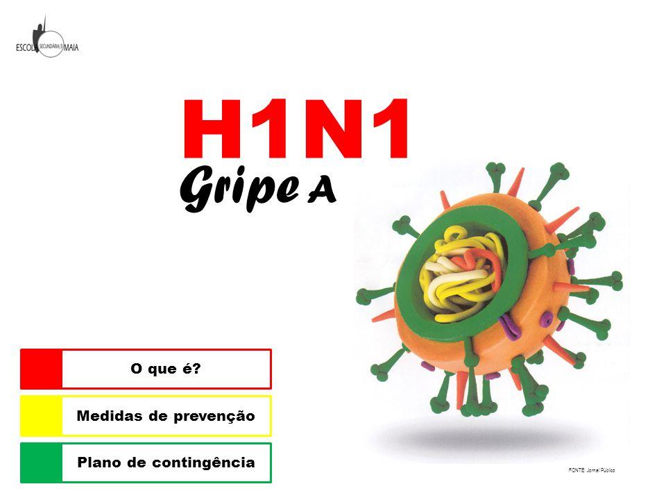 H1N1 Gripe A Plano de contingência Medidas de prevenção O que é? FONTE: Jornal Público