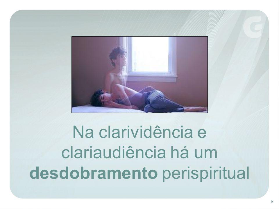 6 Na clarividência e clariaudiência há um desdobramento perispiritual