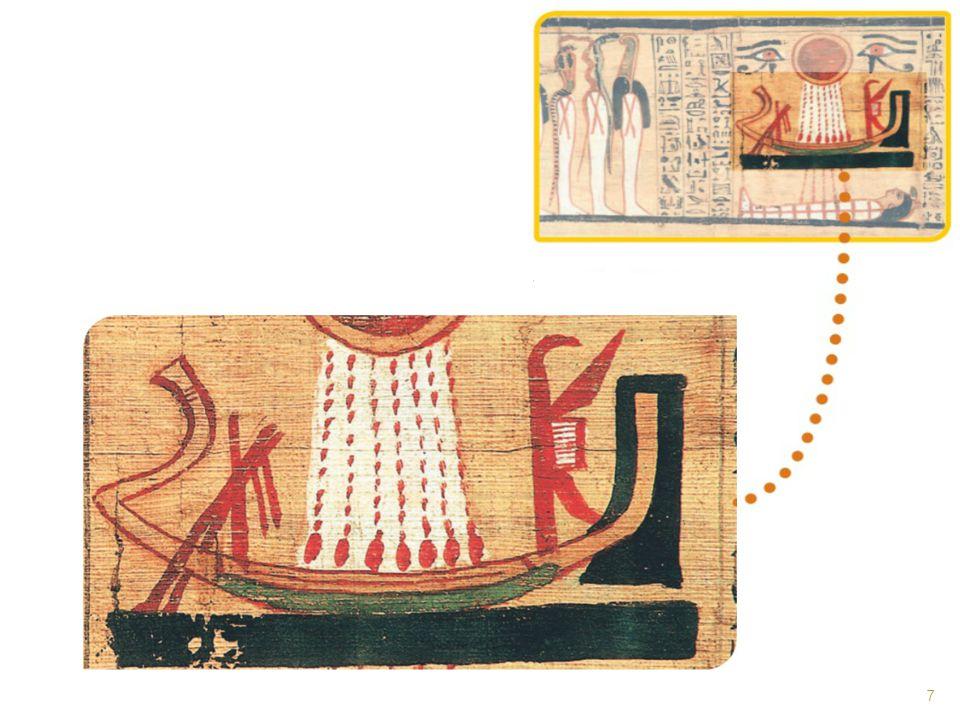 O deus Sol era representado de diversas maneiras: como um escaravelho, um carneiro ou um disco solar, como vemos na figura.