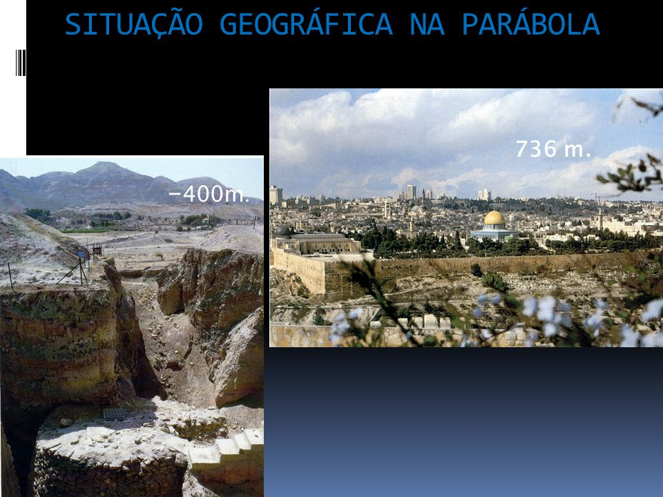 SITUAÇÃO GEOGRÁFICA NA PARÁBOLA 736 m. - 400m.
