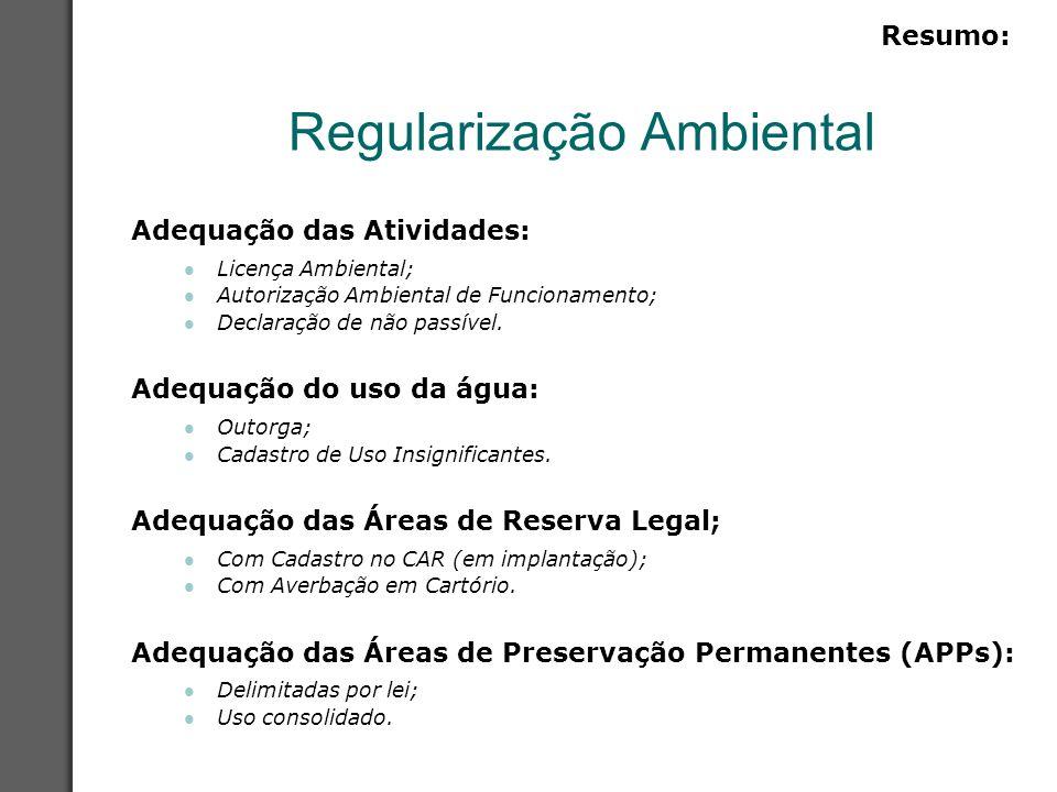 Licença Ambiental É o procedimento administrativo, através do qual, o órgão ambiental licencia ou autoriza projeto, implantação e ou operação de empreendimentos de diversas atividades, entre elas, agrícolas, de pecuária ou florestais.