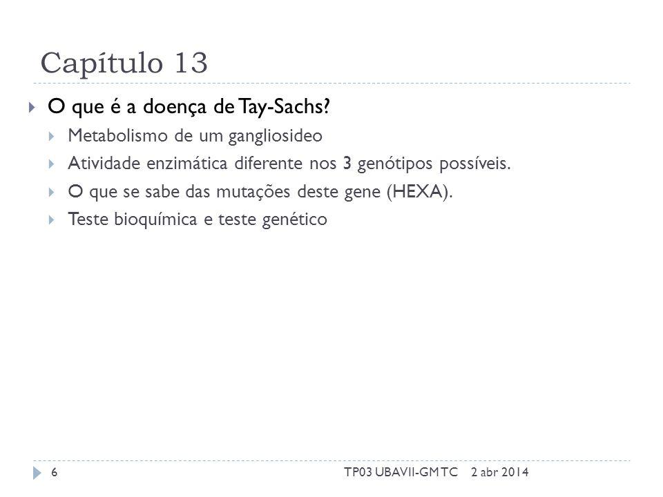 Capítulo 13  O que é a doença de Tay-Sachs.