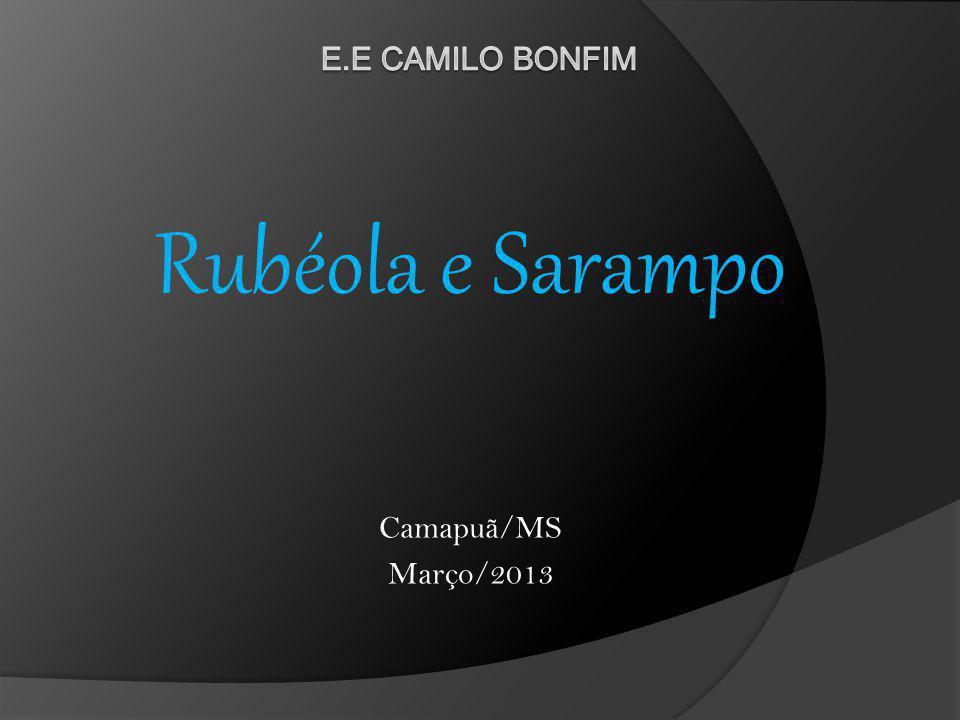 Rubéola e Sarampo Camapuã/MS Março/2013